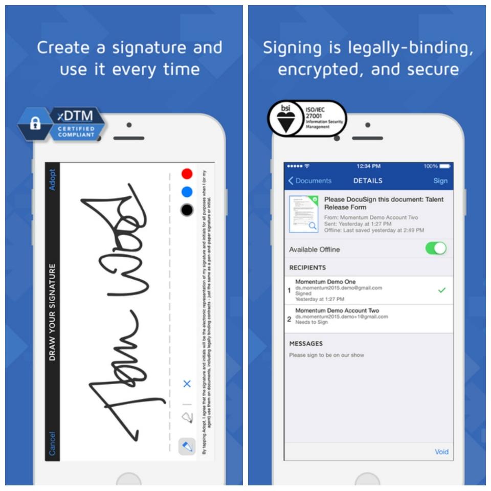Apps para el profesional inmobiliario: Docu Sign