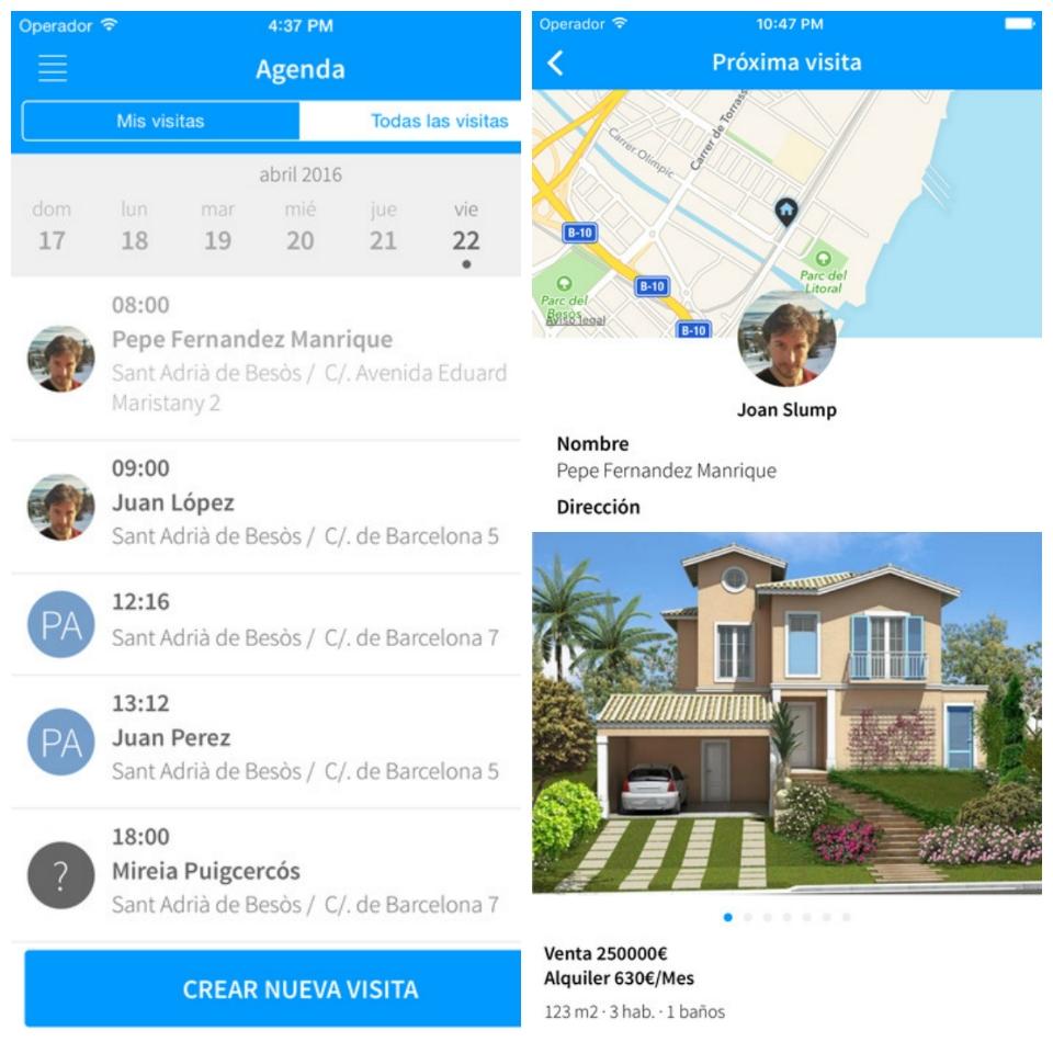 Apps para el profesional inmobiliario: Next Visit