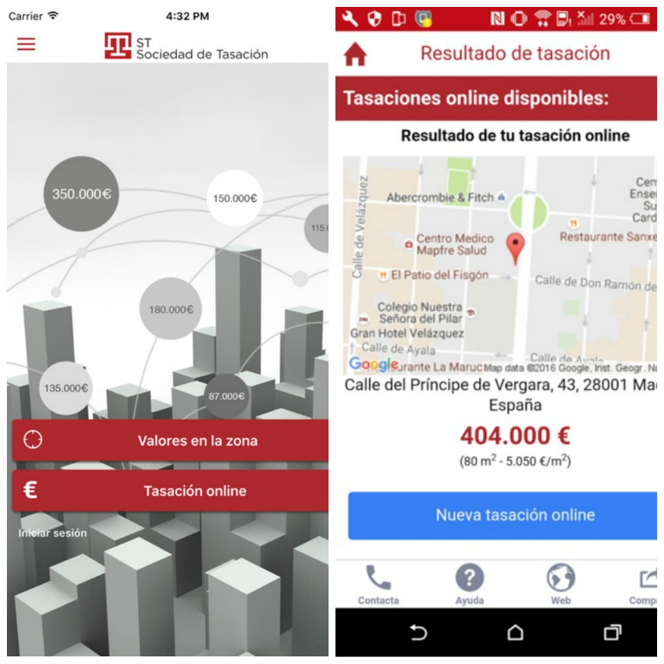 Apps para el profesional inmobiliario: STValora