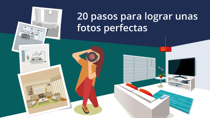 Infograf a 20 recomendaciones para lograr unas fotos for Inmobiliaria fotocasa