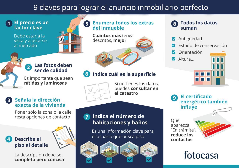 9 recomendaciones para lograr el anuncio inmobiliario perfecto for Inmobiliaria fotocasa
