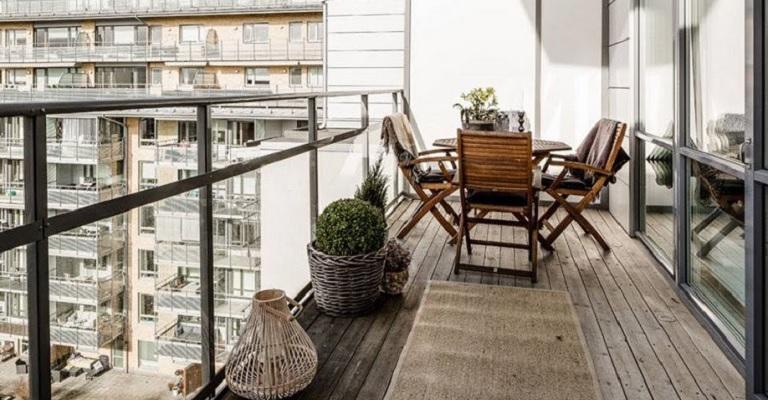 terraza o balcón